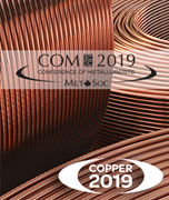 Image de Les actes de la conference COM 2019 ( 58th Conference of Metallurgists) Hosting the International Copper Conference 2019 - Clé USB